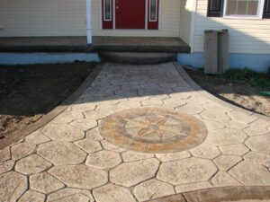 Plano TX Stamped Concrete 3-ink